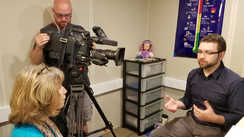 Audiologist Frank Wartinger talks to 6ABC