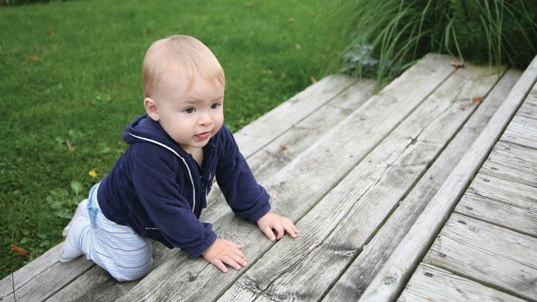 Baby Climbing Steps