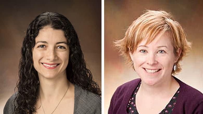 """Lisa Fahey, MD, and Elizabeth """"Betsy"""" Turner, PhD, MS"""