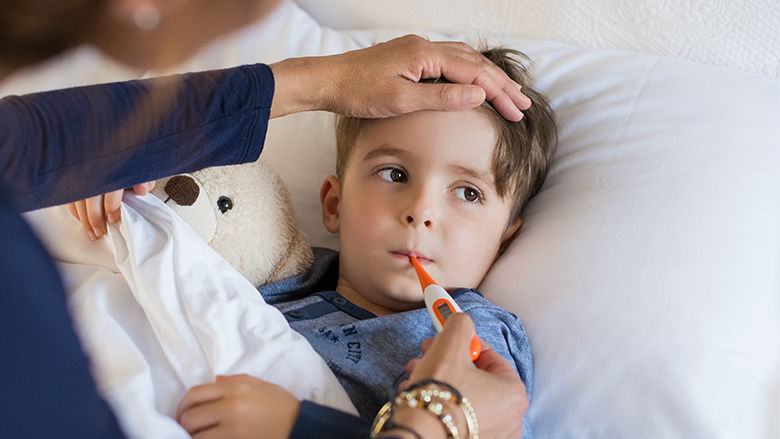 Young boy with fever