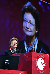 Dr High delivering the 2013 E. Donnall Thomas Lecture at ASH annual meeting on Dec. 9.