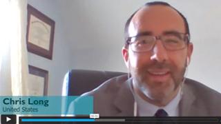 Webinar screen shot of Dr. Christopher Long