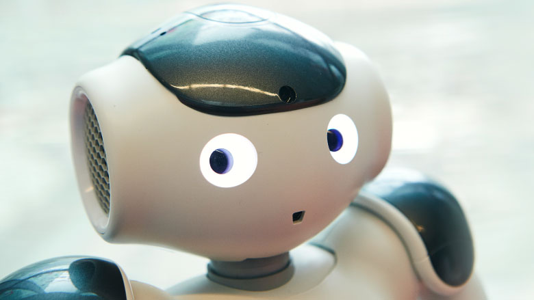 face of hospital robot