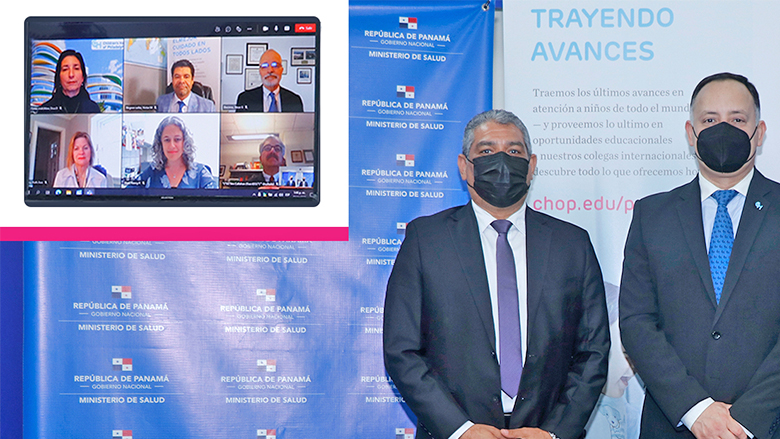 Members of CHOP via Zoom and members of Panama Ministry of Health