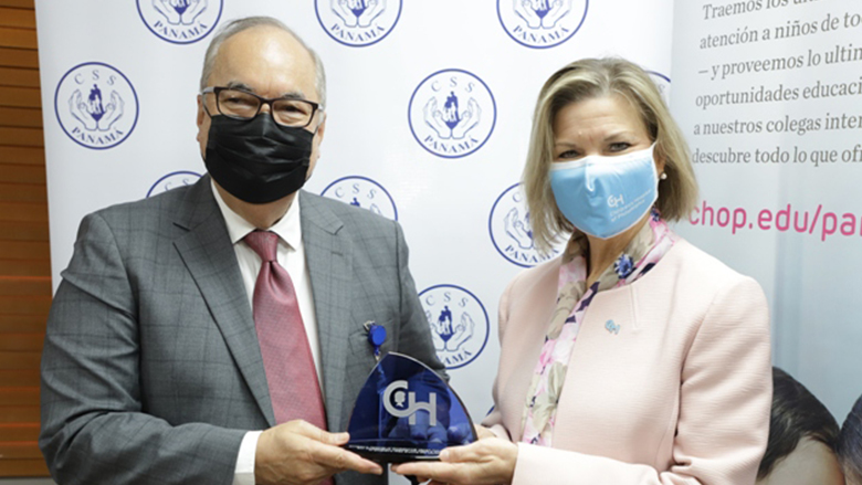Panama official with Ruth Frey