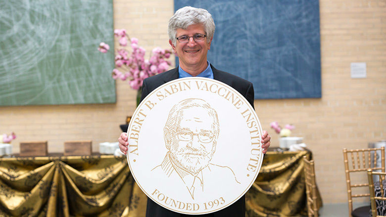 Dr. Paul Offit and Sabin medal