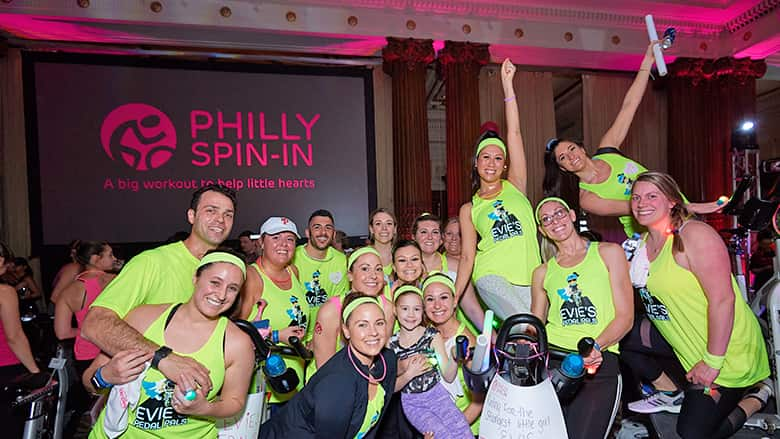 Group photo from Philly Spin-in