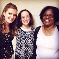 Global Health fellow Kate Westmoreland, MD, with Elizabeth Lowenthal, MD, a CHOP pediatrician who has worked extensively in Botswana, and Seipone Mphele, a psychologist at the University of Botswana.