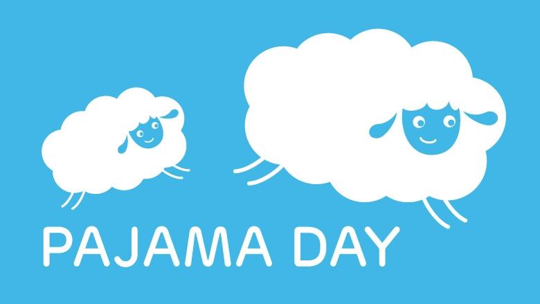 Pajama Day sheep jumping