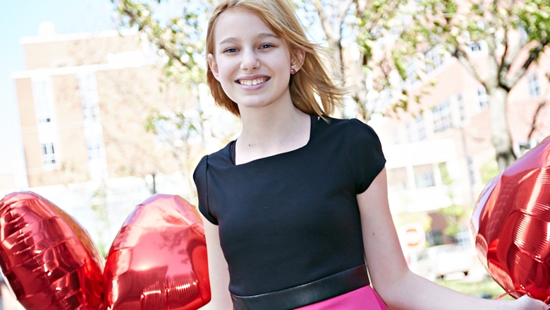Allison with Heart Balloons - Cardiac Patient