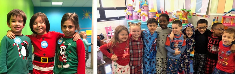 Collage of Pajama Day