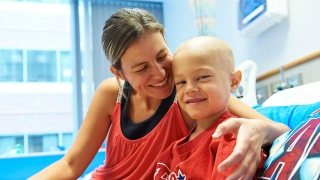 Oncology patient with Mom