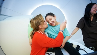 Child getting ready for Proton Therapy