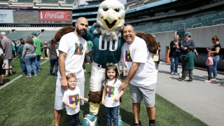Huddle Up with Eagles Autism Challenge
