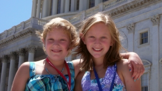 anna and leah lipsman on capitol hill