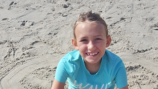 Nora on the beach