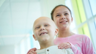 Cancer patient and sister