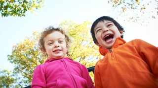 Two children at a playground
