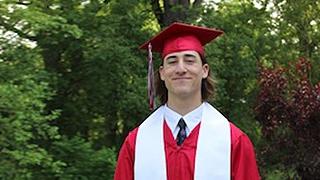 Adison at graduation