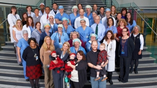 tucker family and CHOP staff