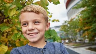 Carter smiling