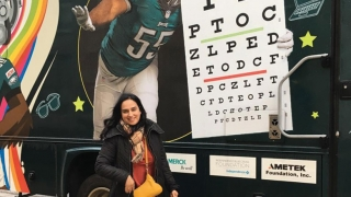 Dr. Ayesha Malik at the Eagles Eye Van