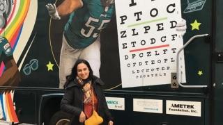 Dr. Ayesha Malik at the Eagles Eye Van