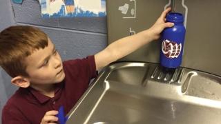 Boy Water Fountain
