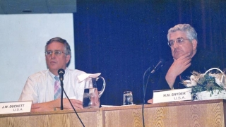 Drs. Duckett and Snyder present at a 1992 conference in Instanbul