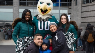 Family at the Eagles Autism Challenge