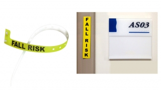 fall risk wristband and magnet