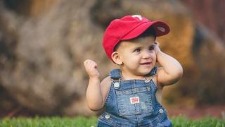 Jayant wearing a baseball cap