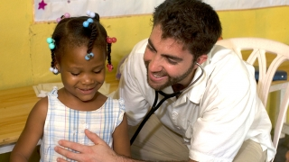 Doctor with child