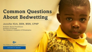 managing bedwetting in children front page