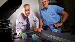 Clinicians Looking at 3D Printed Heart Models