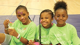 Young girls at Family Fun day