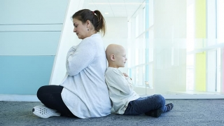 Yoga instructor and oncology patient