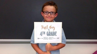 Miles' first fay of 4th grade