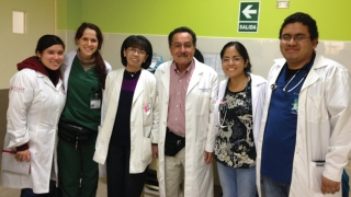 H. Jorge Baluarte in Peru with residents and fellows he trained