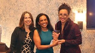 Lisa States, MD, receiving award