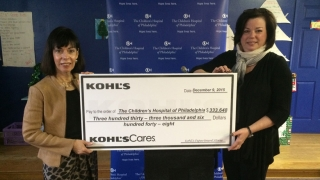large check from Kohls