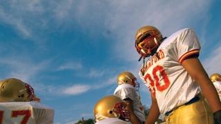 photo of high school football player