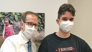 Shane with Dr. Cahill