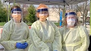 Nurses in PPE