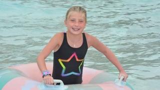 Emma swimming