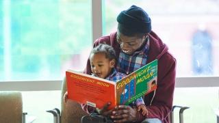 Parent reading to child