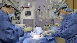 Neonatal Surgical team performing surgery