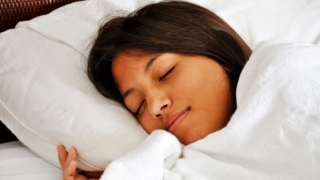 Sleeping Teen Image