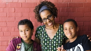 Tami Jackson school counselor with her students