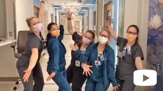 Group of nurses wearing masks